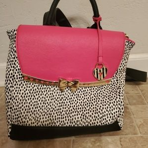 Betsey Johnson Pink Backpack Purse